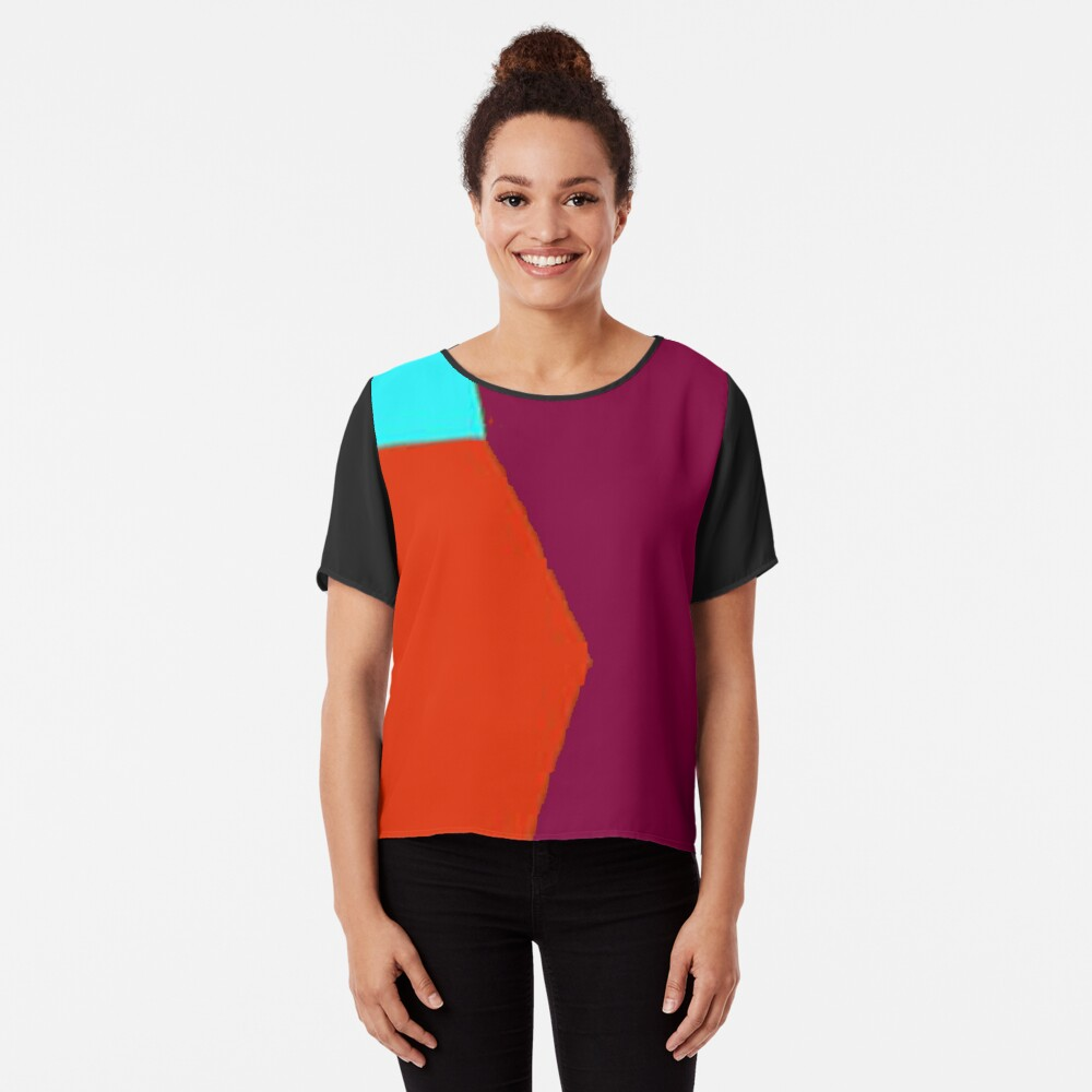 Abstract Color 2 Women's Chiffon Top Front