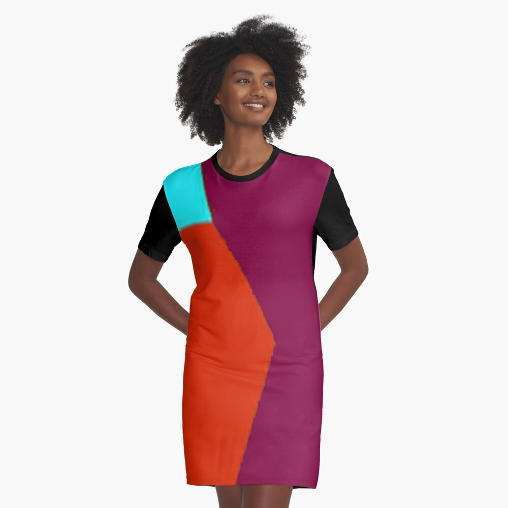 Abstract Color 2 Graphic T-Shirt Dress Front
