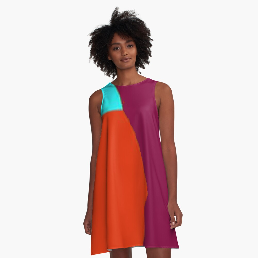 Abstract Color 2 A-Line Dress Front