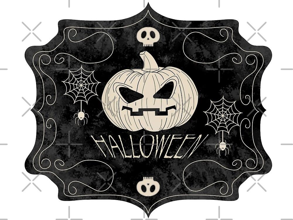 Vintage Halloween Sign by mcb-jp