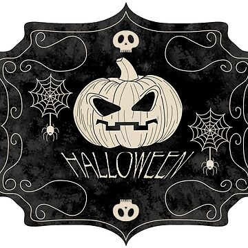 Vintage Halloween Sign by mcb-jp