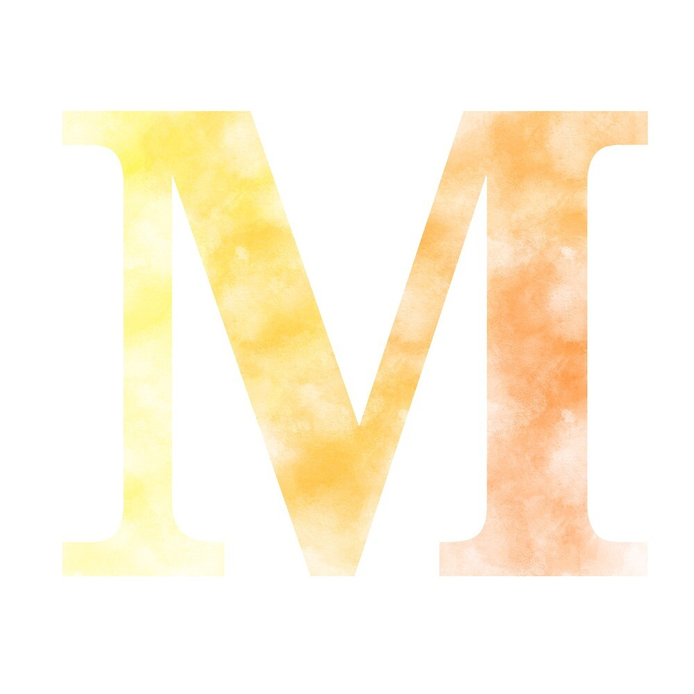 Letter M - Yellow by gaman