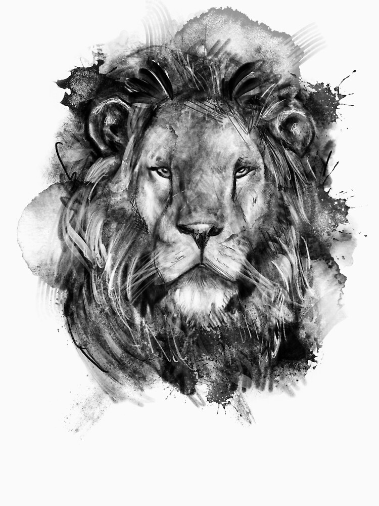 Lion Ink Illustration by Thir