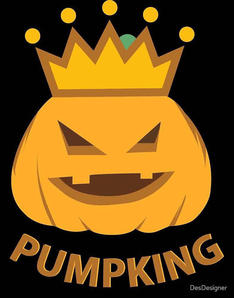 Pumpkin King   Face Crown Halloween by DesDesigner