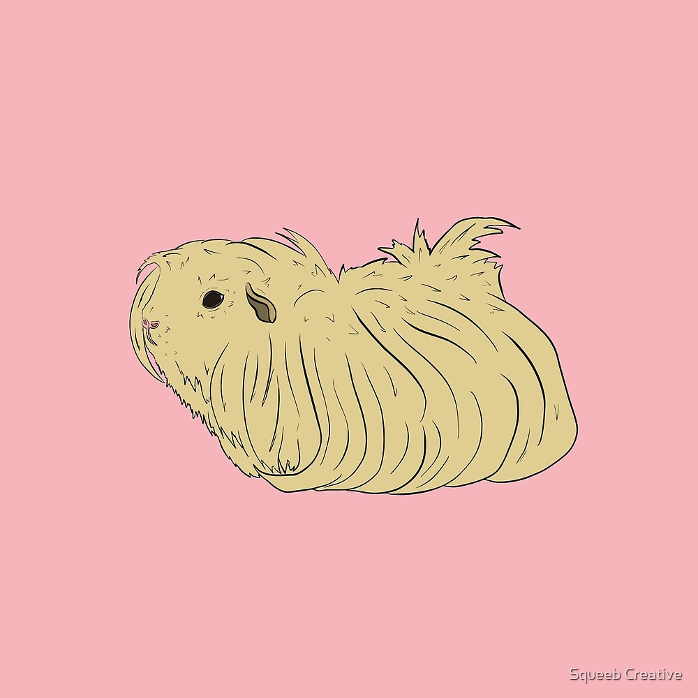 Pop Art Pets! - Chirpy Long Hair Guinea Pig by Squeeb Creative