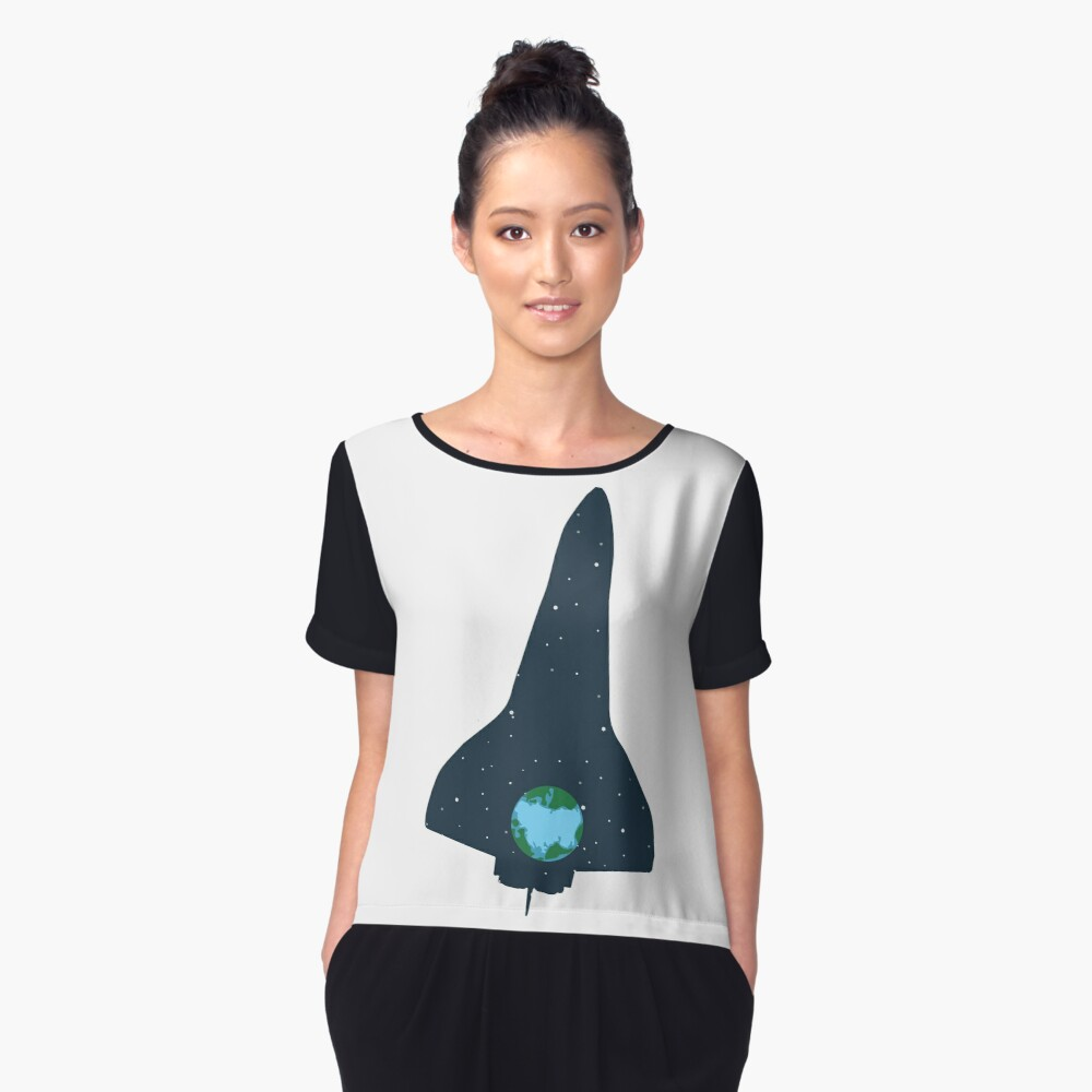 Spaceship | rocket space earth universe Women's Chiffon Top Front