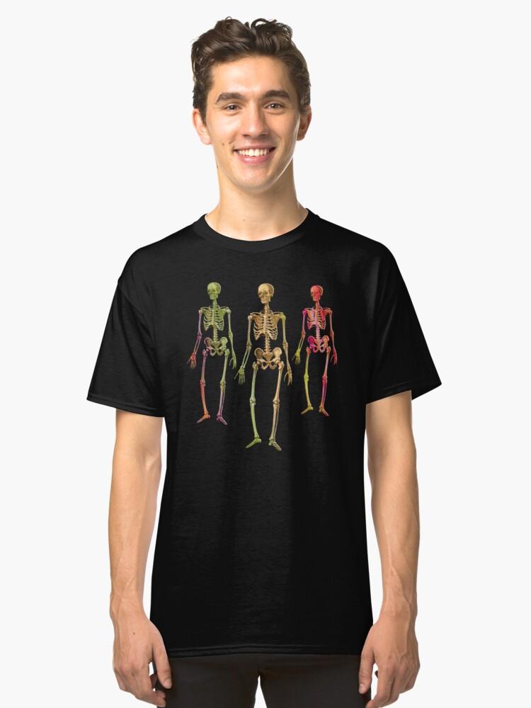 Creepy Halloween Skeletons Classic T-Shirt Front