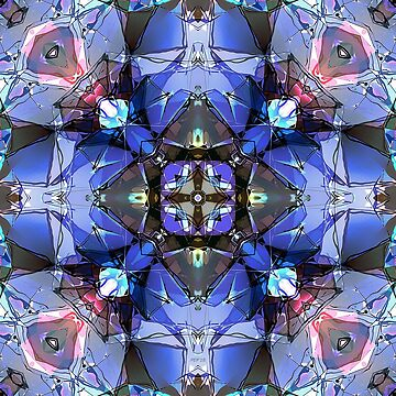 Kaleidoscope of Blues by perkinsdesigns