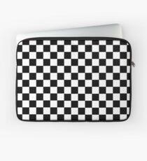 Schwarz-Weiß-Schachbrettmuster Laptoptasche