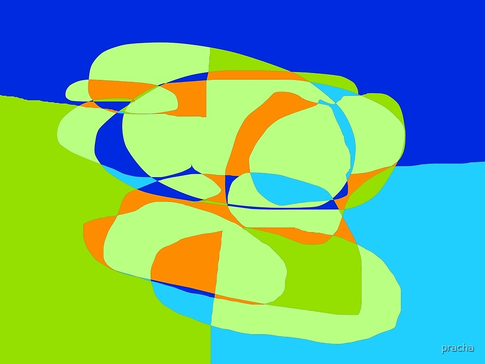 Abstract Color 3 by pracha