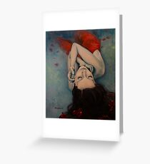 Swinging in Red Greeting Card