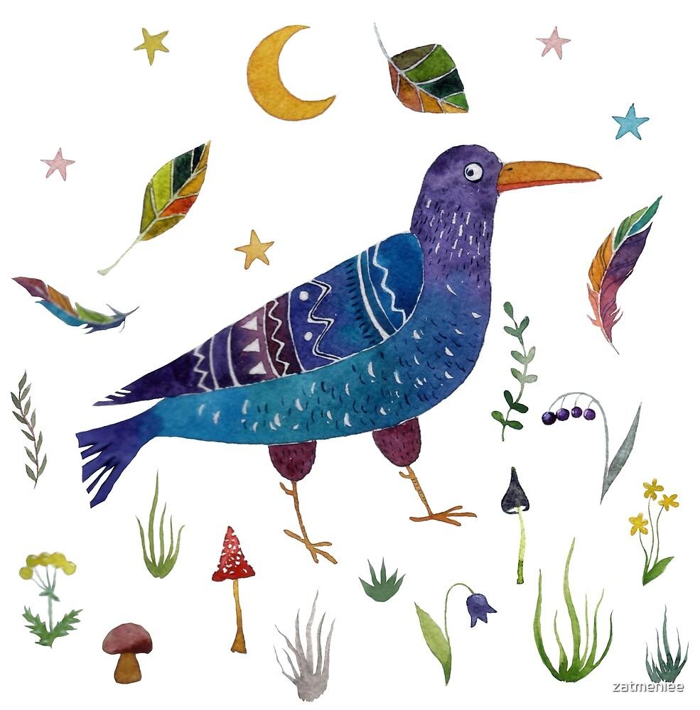 A fabulous bird. by zatmeniee