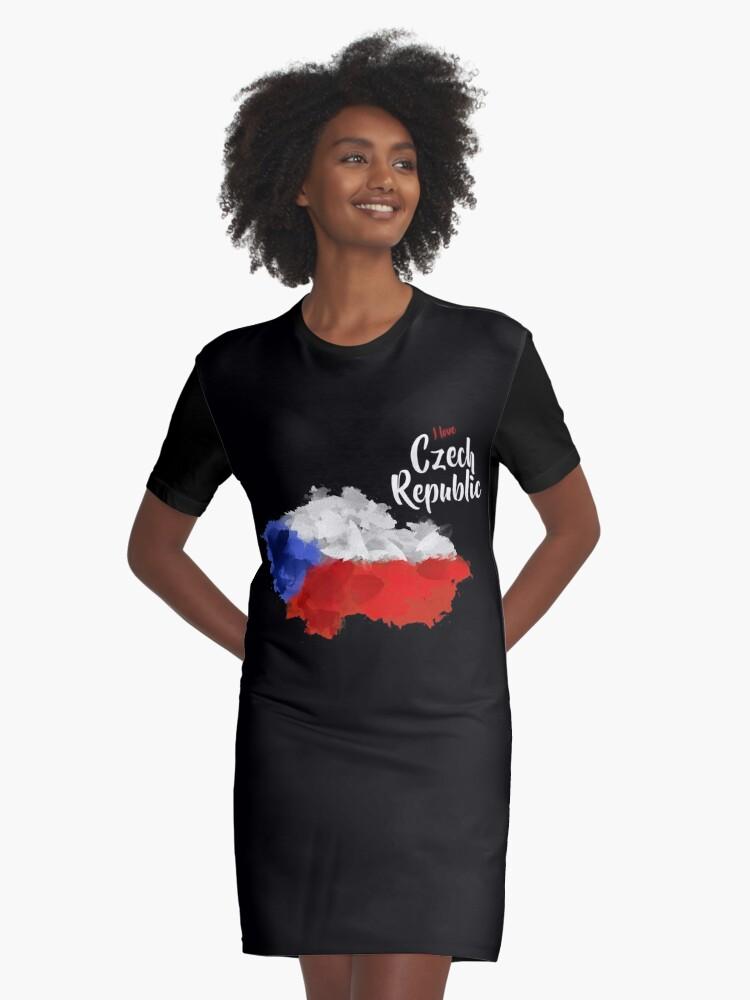 Czech Republic Graphic T-Shirt Dress Front