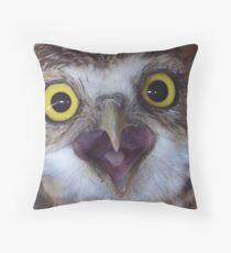 borrowing owl Throw Pillow
