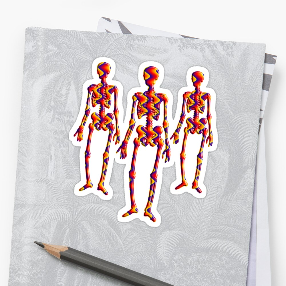 Trick or Treat Halloween Candy Skeletons by AntiqueImages