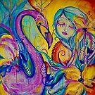 Flamingo Sunrise by MarleyArt123