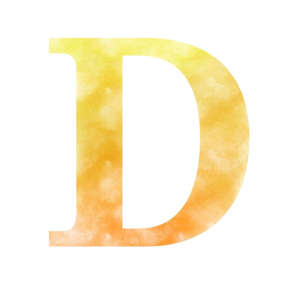 Letter D - Yellow and orange by gaman