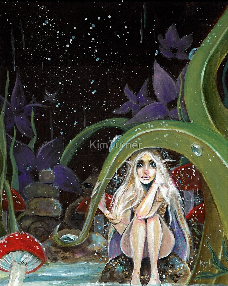 A Storm is coming - faerie hides from the rain by KimTurner