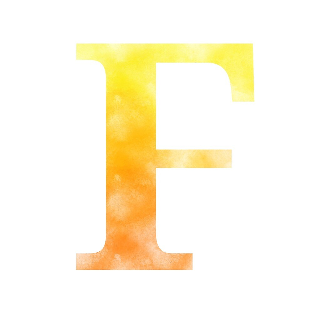 Letter F - Yellow and orange by gaman
