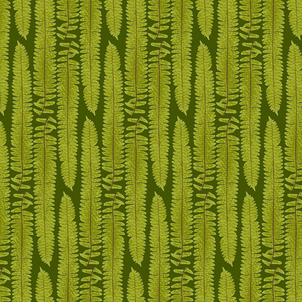 Fern grass forest plant nature green gift moss texture pattern gift fern camouflage camouflage hunter angler eco friendly by ArtOfCopenhagen