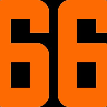 Orange Number 66 by wordpower900