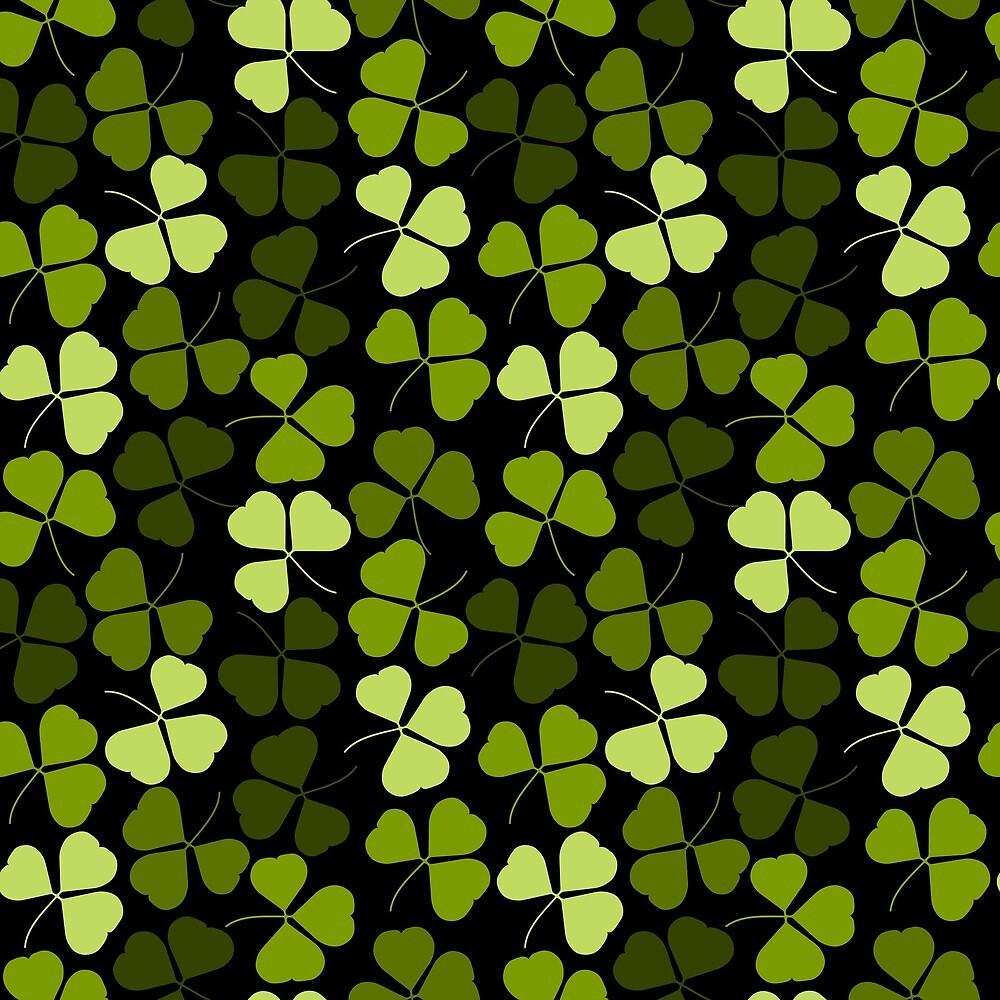 Clover shamrocks luck grass forest plant nature green gift moss texture pattern gift camouflage by ArtOfCopenhagen