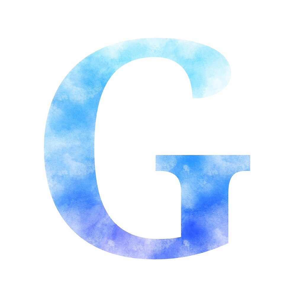 Letter G - Blue by gaman