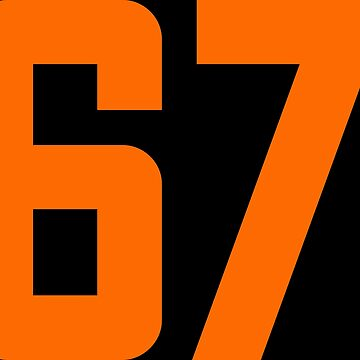 Orange Number 67 by wordpower900