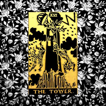 Floral Tarot Print - The Tower by annaleebeer