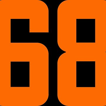 Orange Number 68 by wordpower900