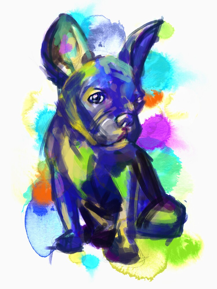 Colorful French Bulldog by Thir