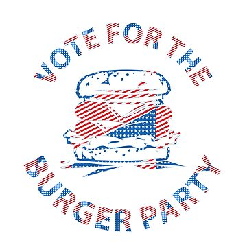 Funny Burger Party Voting by CroDesign