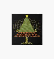 Funny Merry Pickles Christmas Gift Idea Art Board
