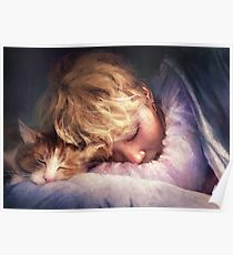 The Boy with the Cat Poster
