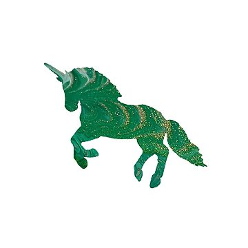 Olympia - Green and Gold Unicorn by Jess Cargill by jesscargill