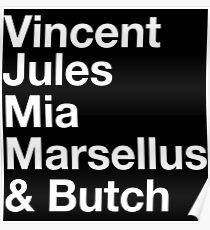 Pulp Fiction Cast Poster