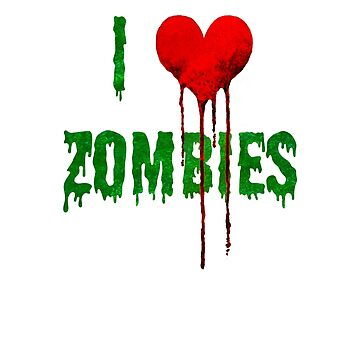 I Love Zombies - Bloody Heart by Jey-Blue