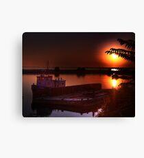 sunrise on jordan harbour Canvas Print