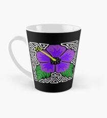 Purple hibiscus w/ swirl mola Tall Mug