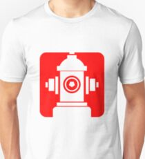FIRE HIDRANT PICTOGRAM  Unisex T-Shirt