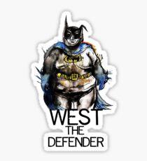 Adam West?...the defender Sticker