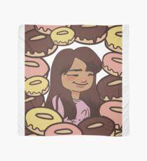 Happy Girl with Yummy Glazed Donuts! Scarf