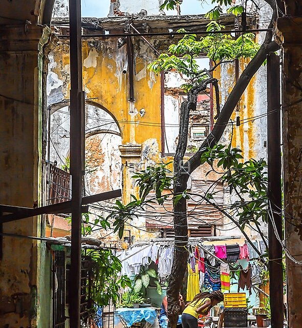 Cuba. Havana. Inner Courtyard in the Ruins. by vadim19