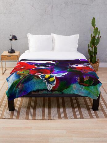 BAANTAL / Pollinate / Evolution #6 Throw Blanket