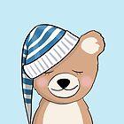 Cute sleepyhead baby bear  by artshipper