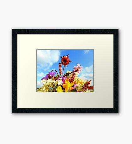 Wildflower Greetings Framed Print