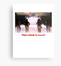 This chick is toast! Metal Print