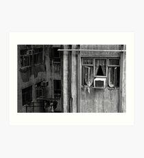 Hong Kong Windows Art Print