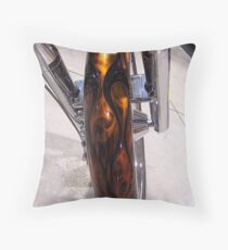 fender on rootbeer flames Throw Pillow