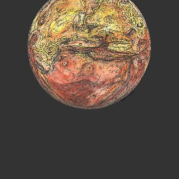 Mars - The Red Planet by SerenSketches
